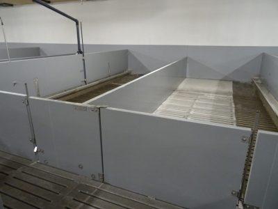 Slagtesvin beslag, integreret vådfoderrør, nyt lågesystem